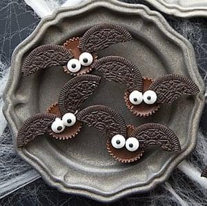 4 Ingredient Mini Bat Cookies