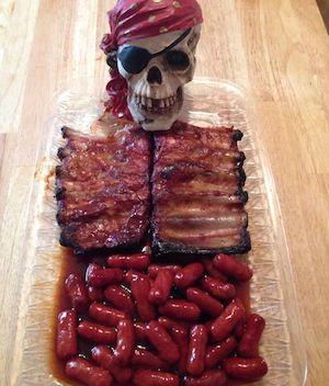 Creepy Skeleton Halloween Party Food