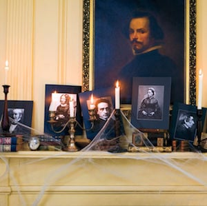 Creepy Fake Portraits on Mantel