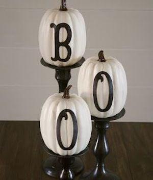 Boo Pumpkin Candlesticks