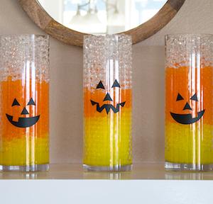 DIY Candy Corn Halloween Water Beads