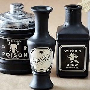 DIY Halloween Poison Bottles