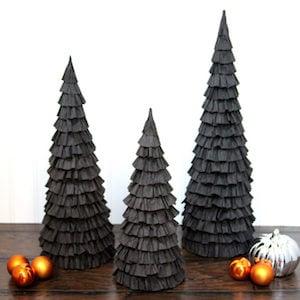 Halloween mantel trees