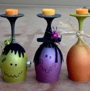 Wine Glass Halloween Decoration
