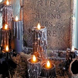 DIY Halloween Paper Towel Candles