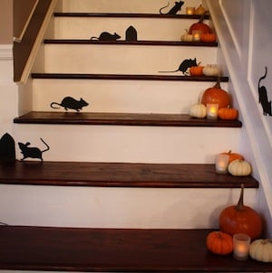 Paper Mice Halloween Decoration for the stairs