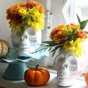 Upcycled Skull Halloween Decoration