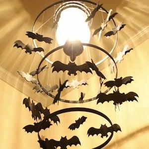Spooky Bat Chandelier Halloween Decoration