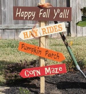 DIY Fall Yard Stakes