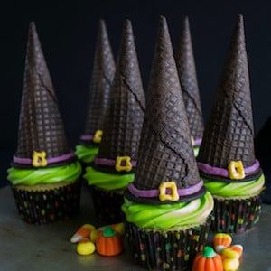 Easy Witch's Hat Cupcakes
