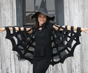 No-Sew easy Halloween Spiderweb Cape