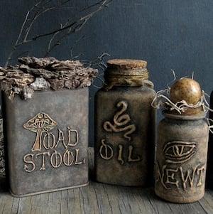 Spooky Halloween Bottles
