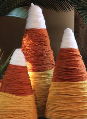 Candy Corn Yarn Halloween Decoration