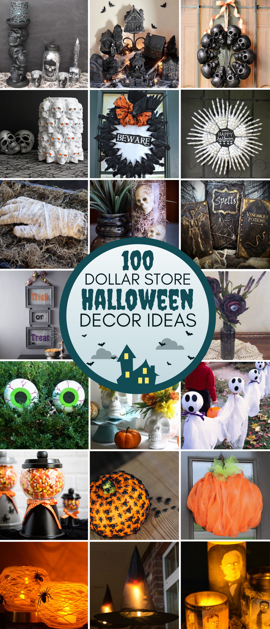 100 dollar store halloween decor diy ideas prudent penny for The decor store