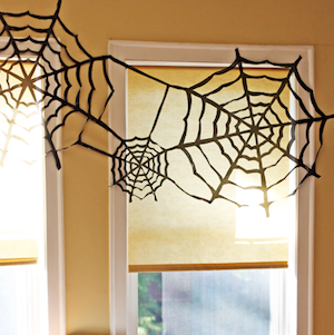 Trash Bag Spiderweb Halloween Decoration