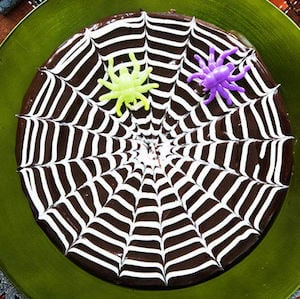 spider web brownies