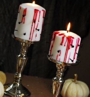 bleeding candles with nails