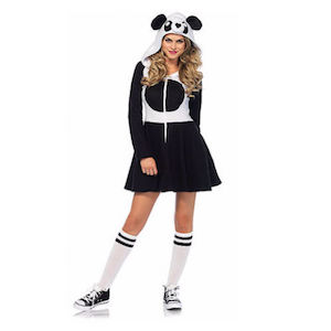 Panda Costume white hoodie shirt black skirt black u0026 white felt fabric glue. All you need to do is make a large black circle for the belly ...  sc 1 st  Prudent Penny Pincher & 100 Cheap and Easy DIY Halloween Costume Ideas - Prudent Penny Pincher