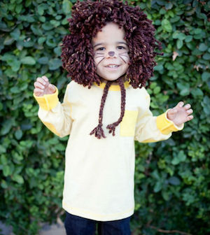 No-Sew Kids Lion last minute Halloween Costume