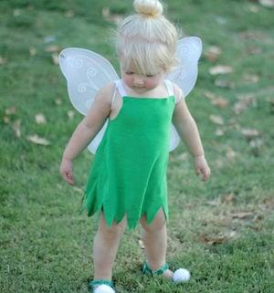 DIY Toddler Tinker Bell Halloween Costume