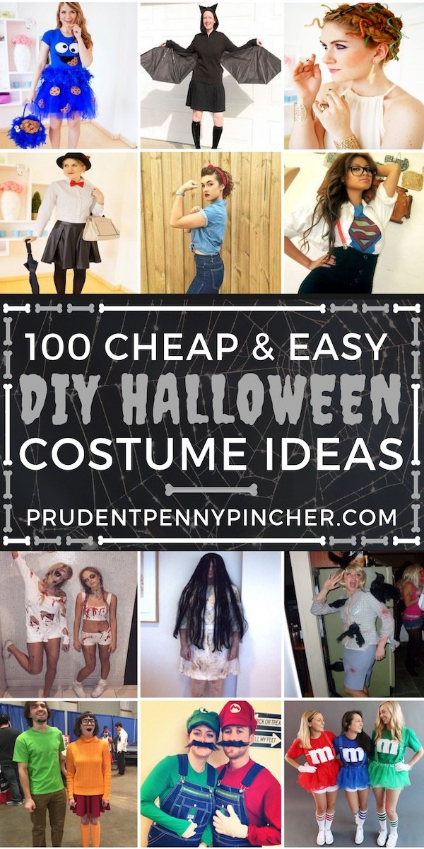 100 Cheap And Easy Diy Halloween Costumes Prudent Penny