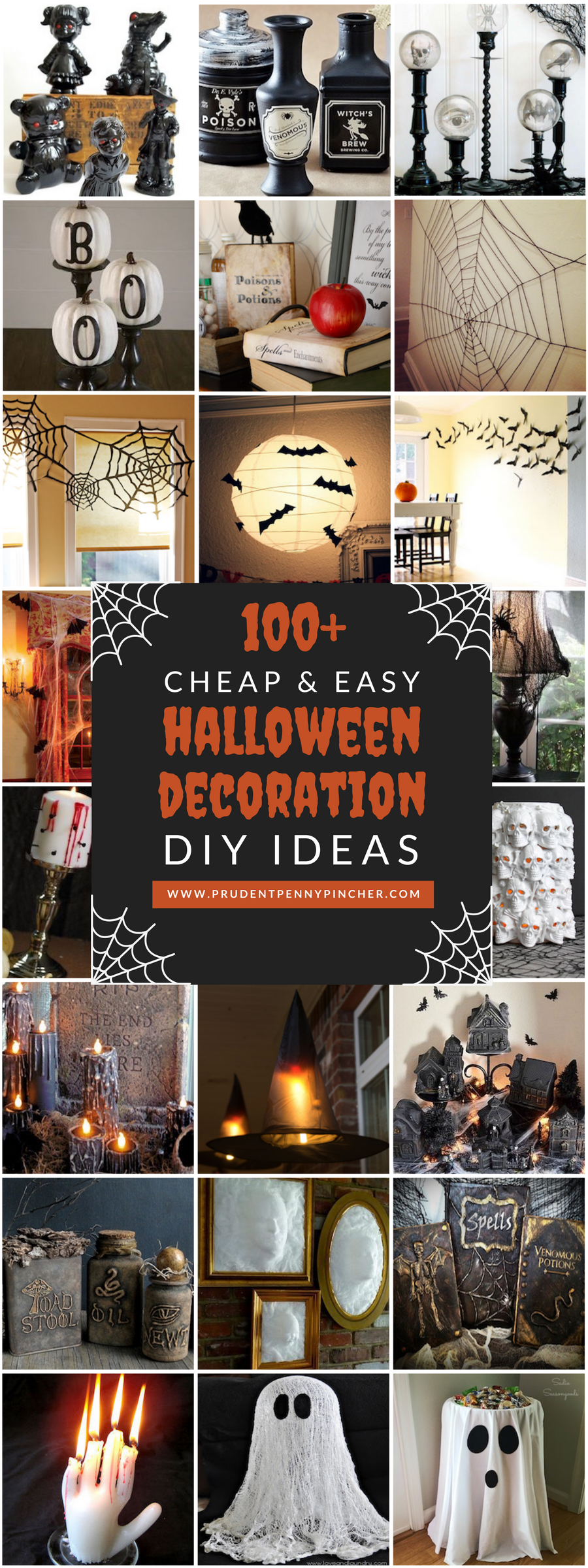 100 cheap and easy halloween decor diy ideas prudent. Black Bedroom Furniture Sets. Home Design Ideas