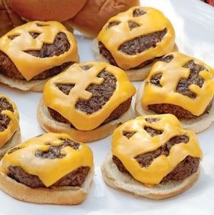 Jack O Lantern Hamburgers