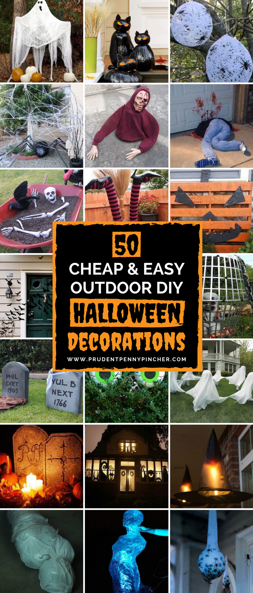 50 cheap and easy outdoor halloween decor diy ideas Halloween decoration diy cheap