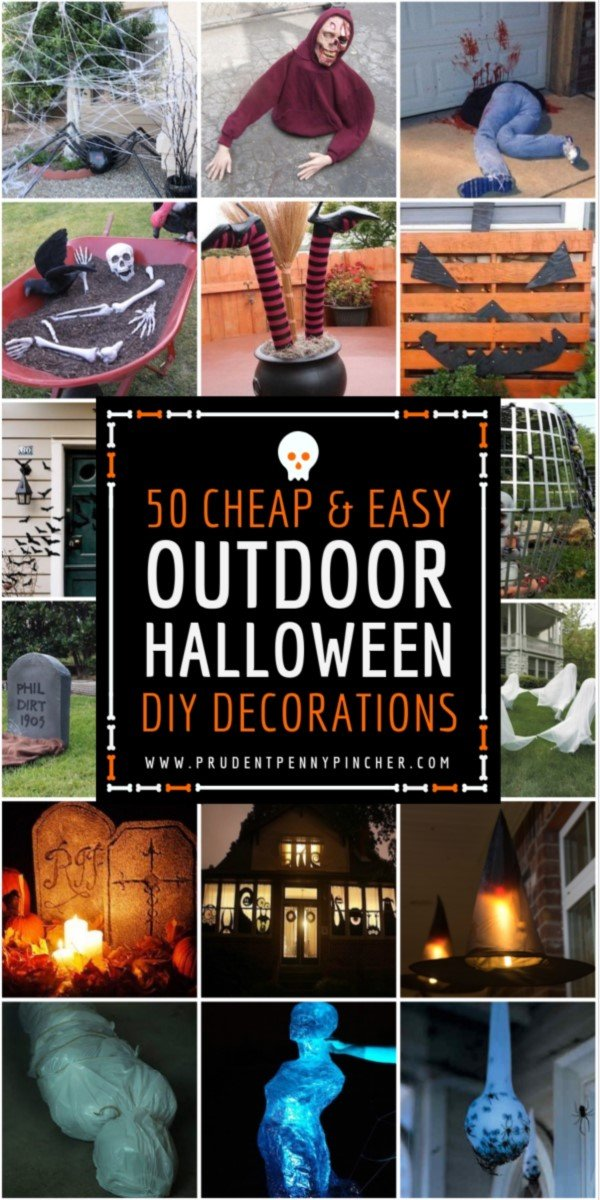 50 Cheap and Easy Outdoor Halloween Decorations - 50 Cheap And Easy Outdoor Halloween Decor DIY Ideas - Prudent Penny