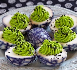 Halloween Deviled Eggs for a party