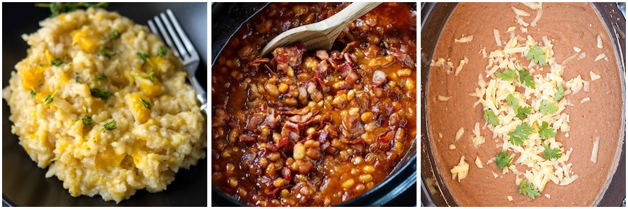 Pasta, Rice and Beans crock pot side dishes