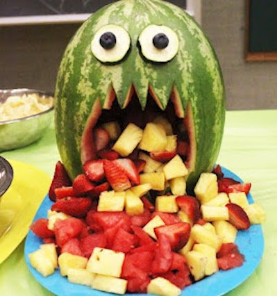 fruit Spewing Melon halloween party appetizer