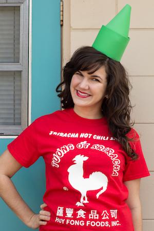 DIY Sriracha halloween Costume