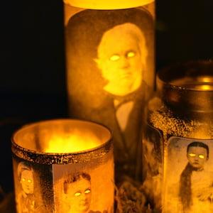 DIY Creepy Halloween Candles
