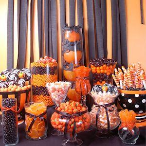Halloween Party Candy Buffet