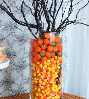 Candy Corn halloween Centerpiece for a party