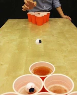Eyeball Beer Pong halloween party game