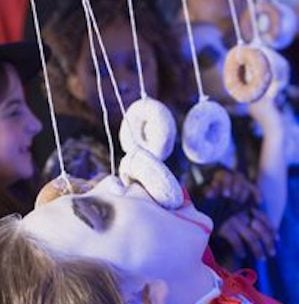 Doughnuts on a String halloween party game for kids