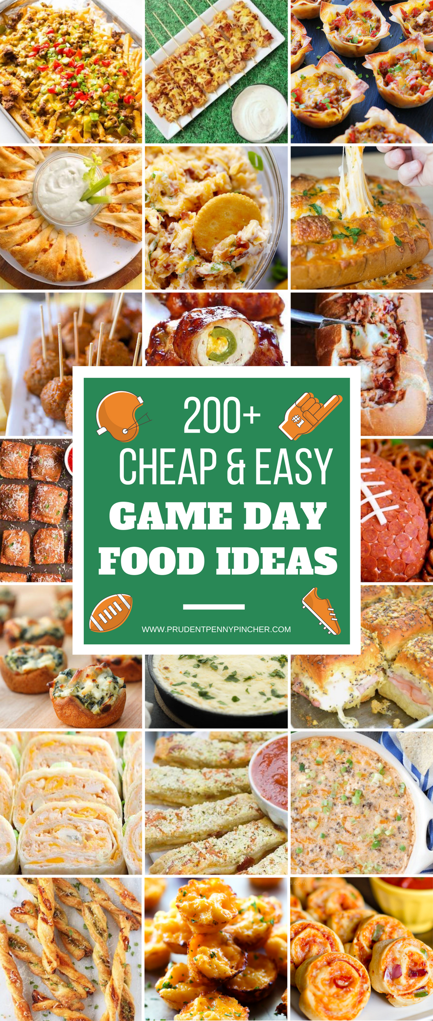 200 cheap and easy football party foods  prudent penny