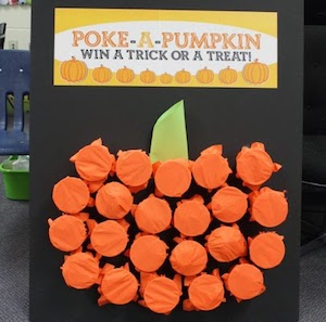 Poke a Pumpkinkids halloween party game