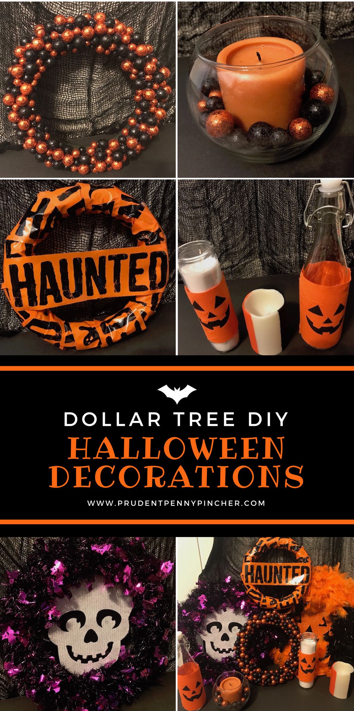 give your home a spooky makeover with these cheap and easy dollar tree halloween decor diy ideas i spend 20 at dollar tree and made these 8 halloween - Halloween Decorations Pictures