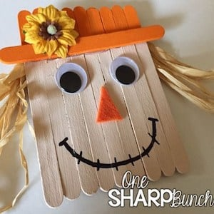 Popsicle Sticks Paint Raffia Googly Eyes Orange Felt Fall Flower Hot Glue Gun This Craft Is More For Kids But Its Just So Cute That I Had To Include