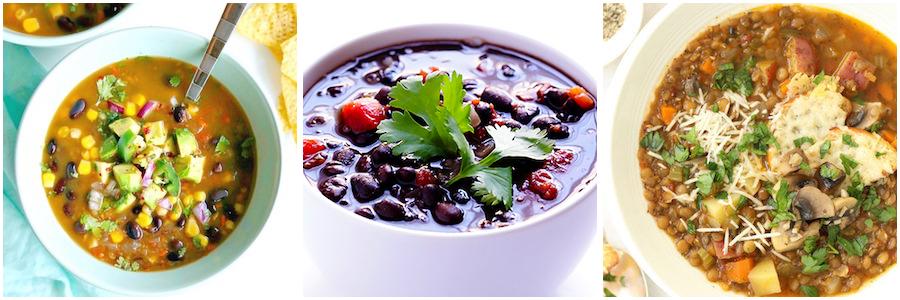 Bean, Lentil & Barley healthy Vegetable Soups
