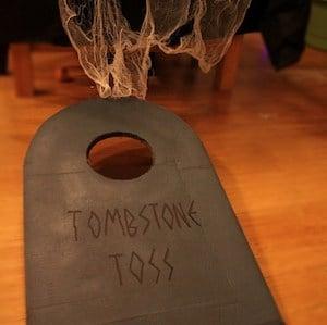 Tombstone Toss Halloween game