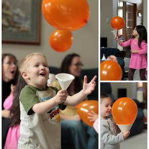 Halloween Balloon Catch game for kids