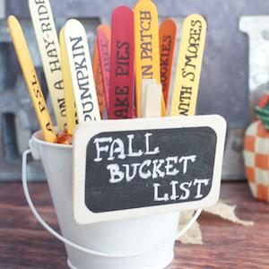 Fall Bucket List Craft