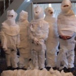 Mummy Wrapping Halloween Contest