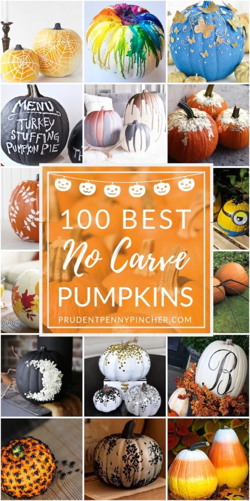 100 No Carve Pumpkin Decorating Ideas , Prudent Penny Pincher