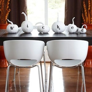 wicked pumpkin halloween party centerpiece