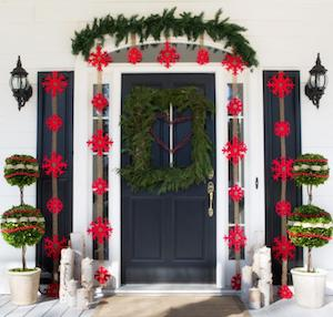 All-Natural Christmas Front Door